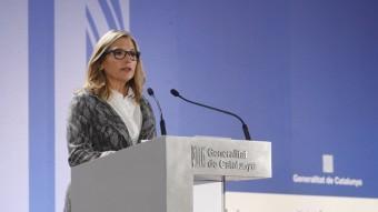 La vicepresidenta del govern, Joana Ortega, informant aquest diumenge de les dades de participació en el 9-N ORIOL DURAN