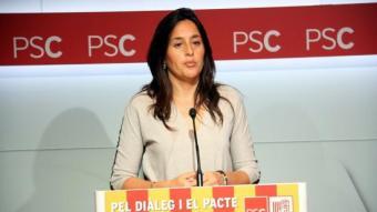 La portaveu del PSC, Esther Niubó valorant el 9-N ACN
