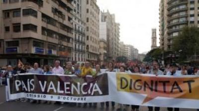 Manifestació per València de la marxa de la dignitat. ARXIU