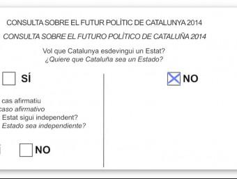"""A Vila-seca, tot i l'hegemonia de Poblet (a la foto, votant) el percentatge del """"No"""" va ser elevat. C.F,"""