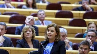 La vicepresidenta espanyola, Soraya Sáenz de Santamaría, al Senat EFE