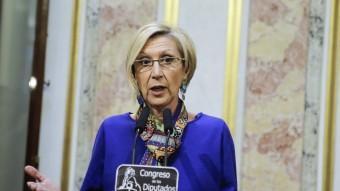La líder d'UPD, Rosa Díez aquest dimecres al Congrés dels Diputats EFE