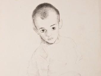 'Enfant malade', un dels commovedors dibuixos que va fer Josep Narro a Argelers MUME