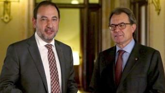 Ramon Espadaler i Artur Mas s'han reunit aquest dijous al Parlament EFE