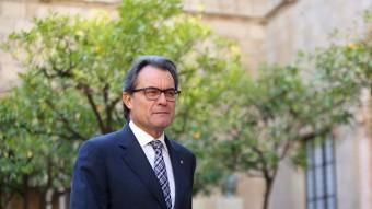 El president de la Generalitat, Artur Mas, al pati dels tarongers la setmana passada QUIM PUIG