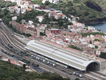 L'estació de Portbou, on es vol potenciar l'activitat logística. LLUÍS SERRAT