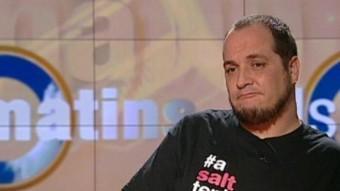 David Fernández, diputat de la CUP al plató de 'Els Matins' TV3