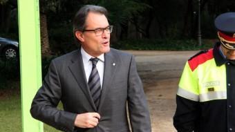 El president de la Generalitat, Artur Mas, arribant aquest dijous a l'acte de constitució del Consell Nacional de la Infància ACN