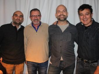 La inauguració del nou espai amb Joan Miquel Oliver, Quimi Portet, Jordi Solé i Manolo Garcia Eugènia Portet