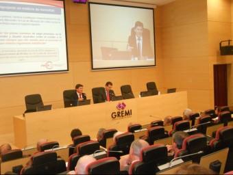 Jornada sobre morositat de Pimec, al Gremi d'Instal·ladors de Girona.  URE COMAS