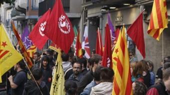 Imatge d'arxiu d'una manifestació anticapitalista que es va fer a Girona.