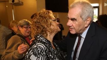 L'eurodiputat Ernest Maragall i l'encara diputada del PSC Marina Geli, aquest divendres durant la presentació del nou partit ANDREU PUIG