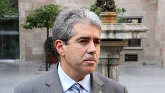 El conseller de la Presidència, Francesc Homs, aquest divendres al palau de la Generalitat ACN