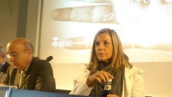 Boi Ruiz i Joana Ortega, ahir, en la inauguració de l'exposició 'Curar-se en salut' R.E