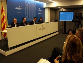 El conseller de Territori, Santi Vila va presentar ahir a Lleida el paquet de millores ACN