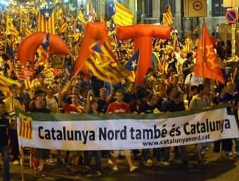 Pancarta de la sectorial nord-catalana de l'ANC A.R