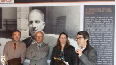 Presentació dels actes amb motiu de l'any Carles Salvador. EL PUNT AVUI