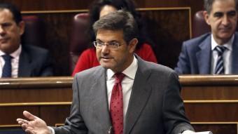 El ministre de Justícia, Rafael Catalá, al Congrés dels Diputats EFE