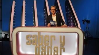Jordi Hurtado en el plató del concurs, el més veterà dels quiz shows que s'emeten a l'Estat espanyol. TVE
