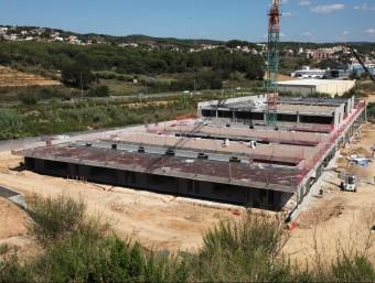 Les obres de l'escola Sa Forcadera de Blanes, que està a mig fer, en una imatge del setembre passat JOAN SABATER