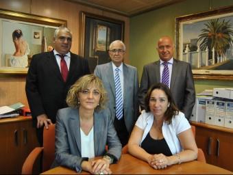 Equip directiu de Segura-Illa Clavera, amb el seu president, Jaume Segura-Illa, al mig.  ARXIU