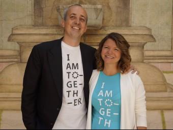 Darius Funallet i Juana d'Oliveira da Rocha, fundadors d'Iamtogether.  L'ECONÒMIC