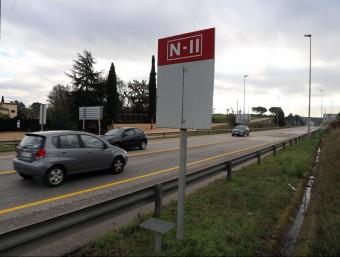 Part del tram d'N-II que s'ha adjudicat ara i que és just després de l'actual en obres MANEL LLADÓ