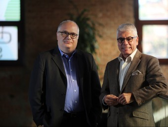 Jaume Moreno, director de comunicació, i Manel Domínguez, director executiu.  QUIM PUIG