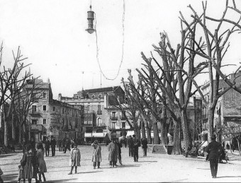 The Rambla in Figueres, early last century.  ARCHIVE