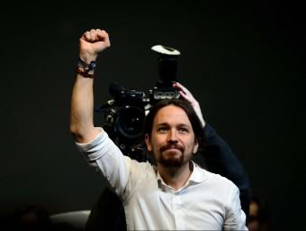 Pablo Iglesias, el líder de Podemos.  ARXIU /AFP