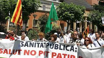 Una protesta contra les retallades en sanitat, en una imatge d'arxiu. M.LLADÓ