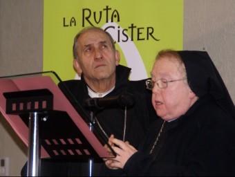 L'Abat de Poblet i l'Abadessa de Vallbona de les Monges durant l'acte dels 25 anys de La Ruta del Cister LAIA CASTELLS