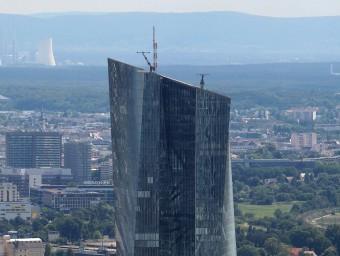 Vista de la seu del Banc Central Europeu, a Frankfurt.  ARXIU