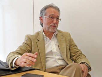 Xavier Torra es mostra confiat en poder tenir la fusió dels centres en pocs mesos.  JUANMA RAMOS