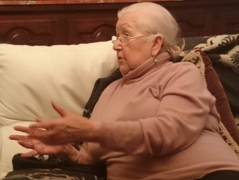 Eliana Comelade a la seva casa de Perpinyà CRISTINA G. BARBERÀ