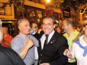 Arturo Torró en un acte electoral del seu partit. EL PUNT AVUI