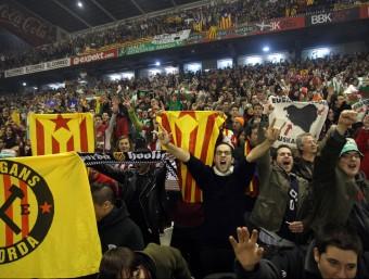 La grada, en l'últim Catalunya-Euskadi O. D