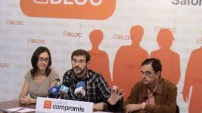 Jordi Puig, al centre, és el síndic de Compromís a Ròtova. EL PUNT AVUI