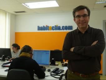 Javier Llanas és el responsable de màrqueting i portaveu d'Habitaclia.  ARXIU