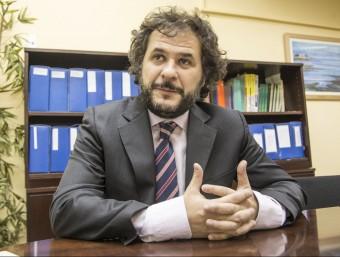 Llorenç Maristany, a la delegació d'Aedaf a Barcelona.  ALBERT SALAMÉ