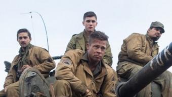 Wardaddy (Brad Pitt)  i els seus homes, que en fan de les seves darrera les línies alemanyes al final de la II Guerra Mundial SONY