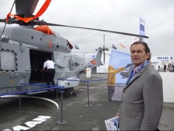 Pere Barrios, gerent i fundador de Recam, a una fira aeroespacial.  ARXIU