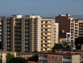 L'última revisió del cadastre a Figueres es va fer l'any 1990. A la imatge, edificis vistos des del parc bosc. LL.SERRAT