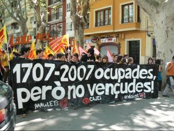 Manifestació reivindicativa de l'any 2007. ARXIU - EL PUNT AVUI
