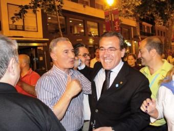 Arturo Torró en un acte del PP de Gandia. EL PUNT AVUI