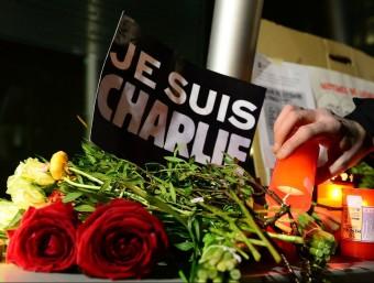 Homenatge a les víctimes dels atacs terroristes . AFP