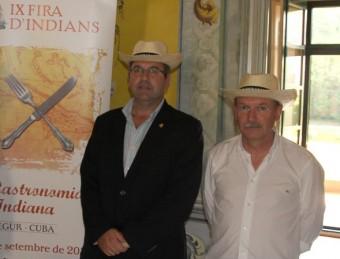 Català i Loureiro, en la presentació d'una de les darreres edicions de la fira d'indians, que l'edil supervisava E.A