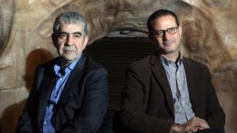 Driss el-Yazami i El Arbi El Harti han estat a Barcelona per presentar el cicle 'Després de Tànger: cinema marroquí i drets humans' QUIM PUIG