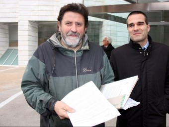 Joan Vázquez, secretari general d'Ipcena ahir davant del jutjat ACN