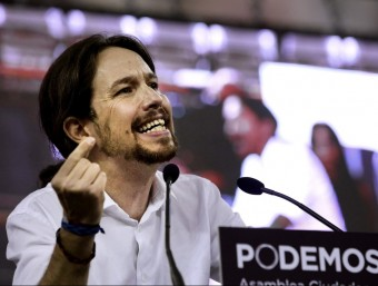Podemos, a party claiming to be an alternative to the established political system.  EFE